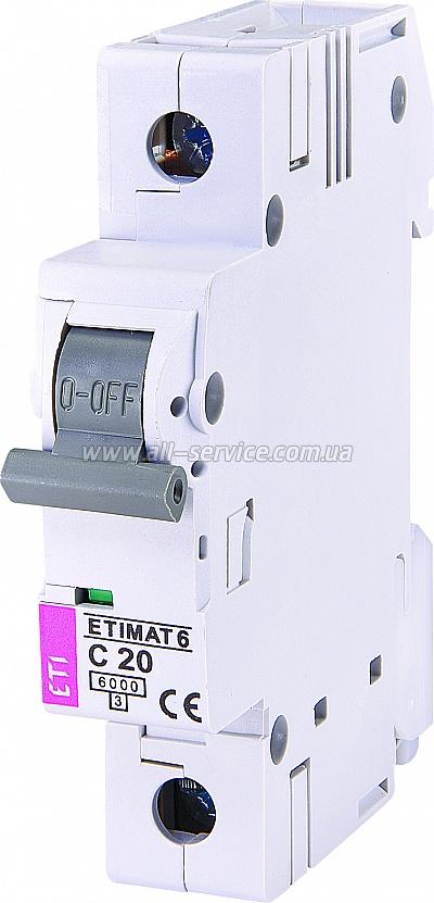 Автоматический выключатель ETIMAT 61p С 20А 6 kA (2141517)