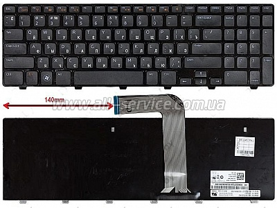Клавиатура NB DELL Inspiron 15R 3551 M5110 N5110 BLACK RU