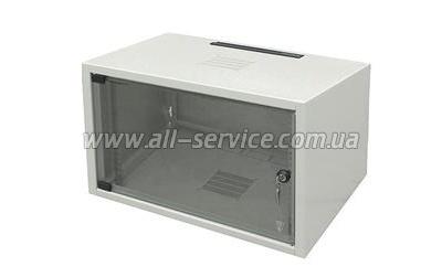 19 шкаф 10U, глубина 400 мм., серый цвет (WZ-3504-01-02-011)