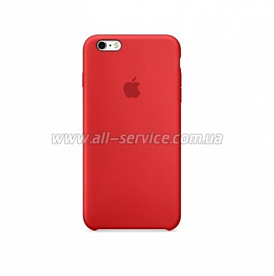 Чехол для смартфона Apple iPhone 6s Silicone Case Red (MKY32ZM/A)