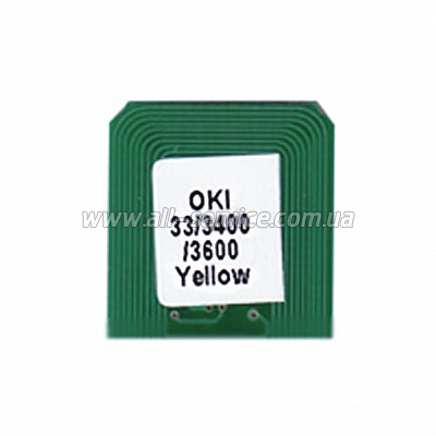 Чип BASF для OKI C3300 / 3400/ 3600 Yellow (WWMID-71090)