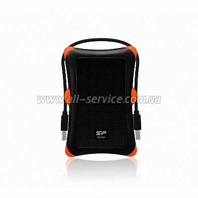 Винчестер 500GB SILICON POWER Armor A30 USB 3.0 Black (SP500GBPHDA30S3K)