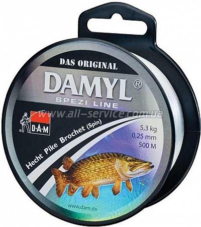 Леска DAM DAMYL Spezi Line Pike (SPIN) 0,25мм 500м 5,3кг (stone-grey) (3101025)