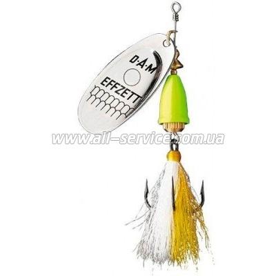 Блесна-вертушка DAM Effzett Executor с бородкой 4гр (silver lemon) (5129202)