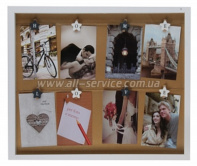 Фоторамка EVG BIN 314652 WHITE/BROWN Collage 8