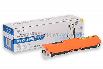 Картридж G&G HP Color LJ CP1025/ CP1025nw Yellow (G&G-CE312A)