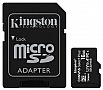 Карта памяти Kingston microSDHC 16GB Canvas Select Class 10 UHS-I U1 + SD-адаптер (SDCS/16GB)