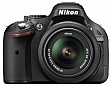Зеркальный фотоаппарат Nikon D5200 + AF-S DX 18-55mm f/3.5-5.6G VR II Black KIT (VBA350K007)