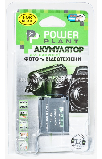 Аккумулятор PowerPlant Canon NB-11L (DV00DV1303)