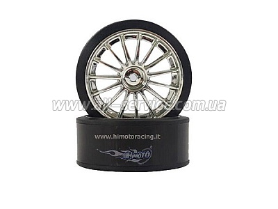 Drift Tires and Chrome Rims E18DT 2P