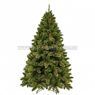 Искусственная ель Triumph Tree Edelman Dewberry, зеленая с декоративными шишками и ягодами ежевики, 1.85 м