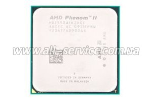 Процессор AMD Phenom II X2 560 sAM3 (3.3GHz, 6MB, 80W) BOX (HDZ560WFGMBOX)