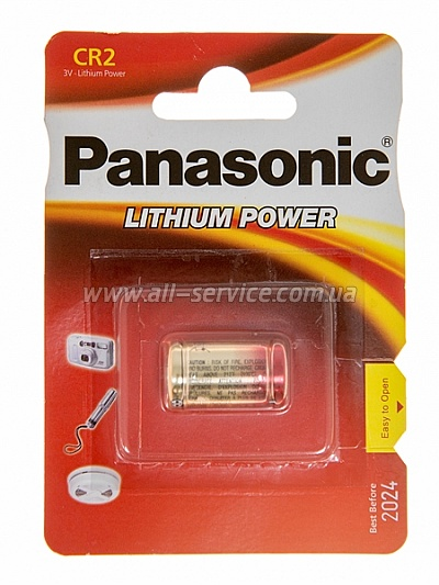 Батарейка Panasonic CR-2L BLI 1 LITHIUM (CR-2L/1BP)