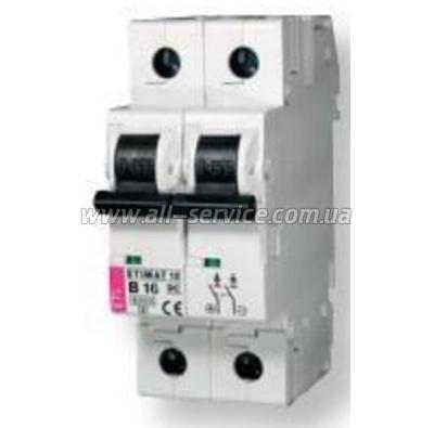 Автоматический выключатель ETI ETIMAT 10 DC 2p C 50A (6 kA) (2138721)