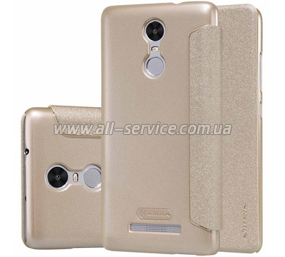Чехол книжка Nillkin Leather case Redmi Note 3 Gold SP-LC HM-Note 3