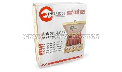 Набор фрез кромочных прямых INTERTOOL HT-0076