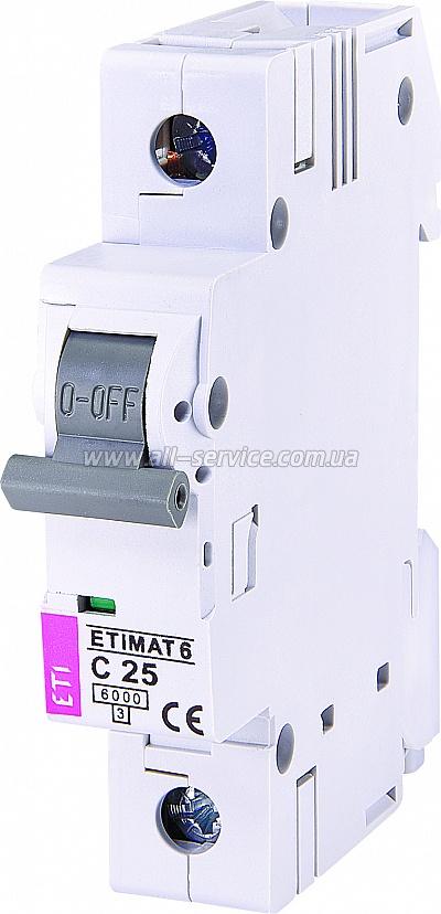 Автоматический выключатель ETIMAT 61p С 25А 6 kA (2141518)
