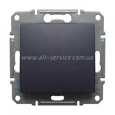 1-клавишный переключатель Schneider Electric Sedna перекрестный 10A Графитовый (SDN0500170)
