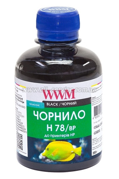 Чернила WWM 200г HP CB316HE/321HE Black Pigmented (H78/BP)
