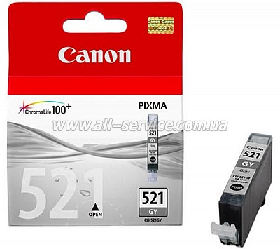 Картридж Canon CLI-521GY Grey MP540/ MP630 (2937B004)