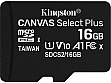 Карта памяти Kingston microSDHC 16GB Canvas Select Plus Class 10 UHS-I U1 V10 A1 (SDCS2/16GBSP)