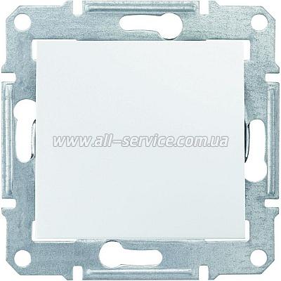 1-клавишный переключатель Schneider Electric Sedna 10A Белый (SDN0400121)