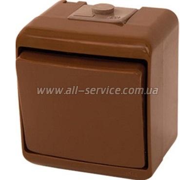 Выключатель ETI VHE-1-KR, IP44, коричневый (4668040)