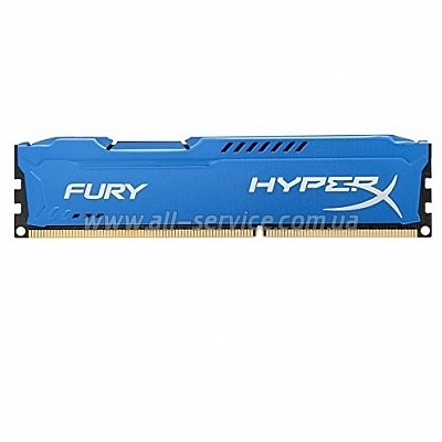 Память 8Gb KINGSTON HyperX OC DDR3, 1866Mhz CL10 Fury Blue (HX318C10F/8)