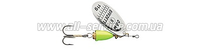 Блесна-вертушка DAM Effzett Executor 12гр (silver lemon) (5127411)